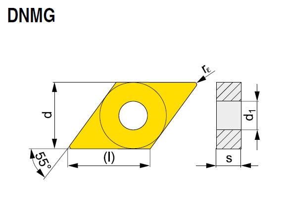 Wendeschneidplatte DNMG 150612E-NF T9315