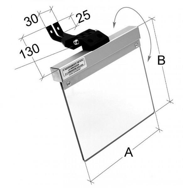 Schutzschild 160 x 145 mm für Schleifmaschinen