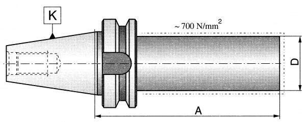 Rohling MAS BT50, D: 50 mm