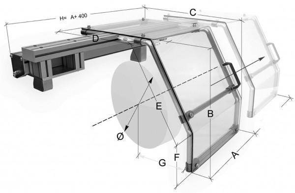 Futterschutzeinrichtung für Futter-Ø 800-900 mm