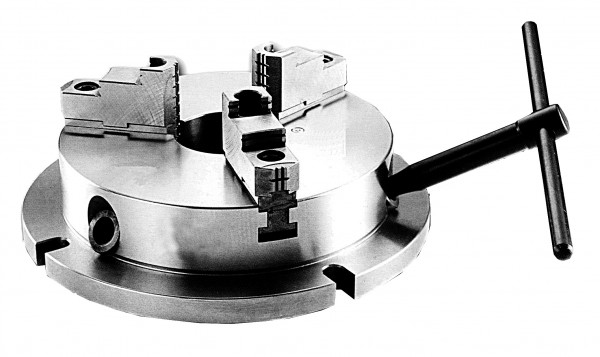 Stationary three-jaw lathe chuck, extra thin, type 210