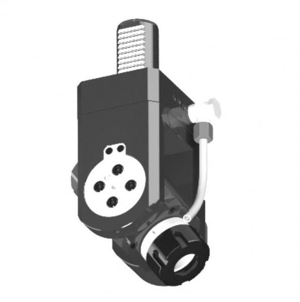 Angetriebenes Werkzeug, DIN 5482, verstellbar 0° bis ± 105°