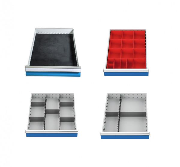 Einteilungssortiment 4-teilig für Schubladen R 18-24 Nutzmaß 450 x 600 mm