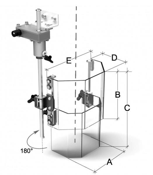 Teleskopabdeckung für Ständerbohrmaschinen