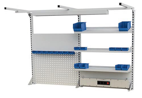 Multi-Wand-Aufbau B 2000 mm für Kastenwerkbank B 2000 mm