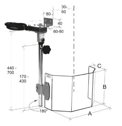 Ständerbohrmaschinen Schutzeinrichtung 300 x 200