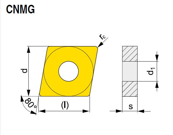 Wendeschneidplatte CNMG 160608E-NM T7335
