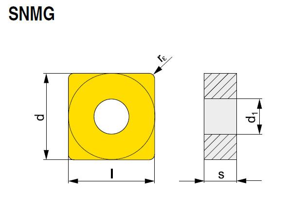 Wendeschneidplatte SNMG 190612E-RM T9325