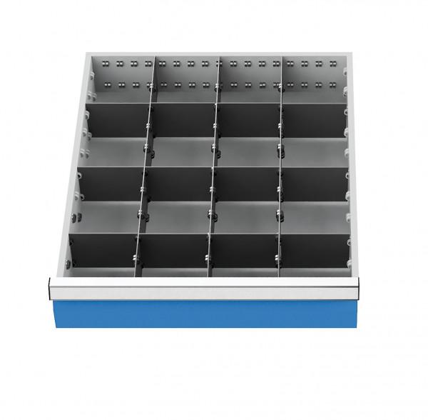 Metalleinteilung 15-teilig für Schubladennutzmaß 450 x 525 mm