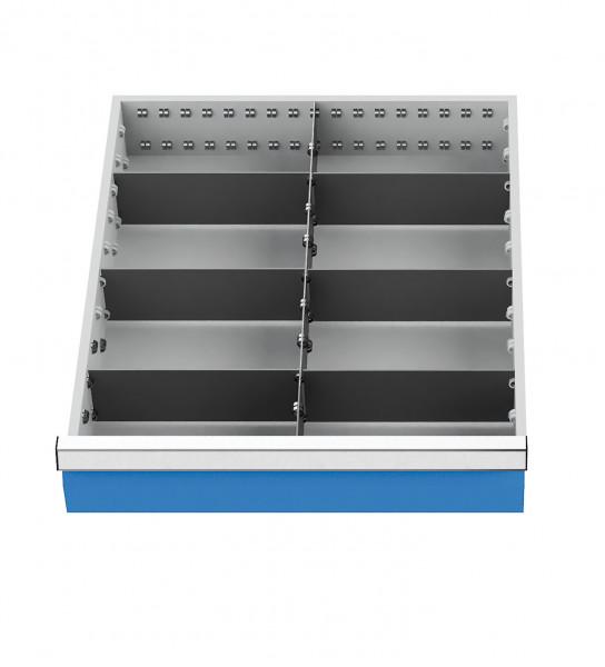Metalleinteilung 7-teilig für Schubladennutzmaß 450 x 525 mm