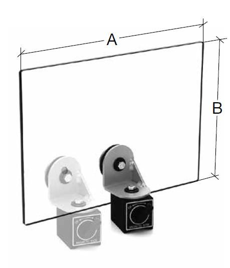 Schutzschild mit Magnetfuß 350 x 250 mm