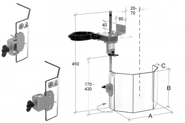 Ständerbohrmaschinen Schutzeinrichtung 230 x 180