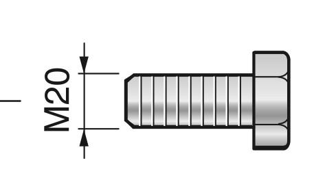Abdrückschraube M20 für Zentrierkegel