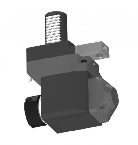 Angetriebenes Werkzeug, DIN 5480, abgewinkelt 90°, zurückgesetzt