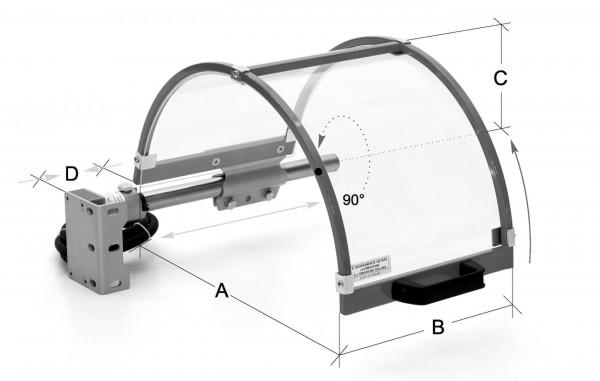 Ersatzschild, mit Rahmen, für Typ ZE-FS10-500