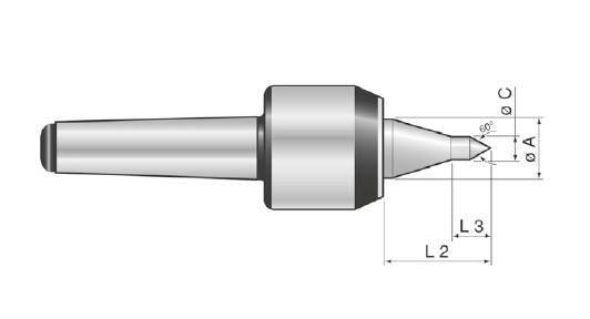 Mitlaufende Drehbankspitze, BASIC Typ SKP, MK 2