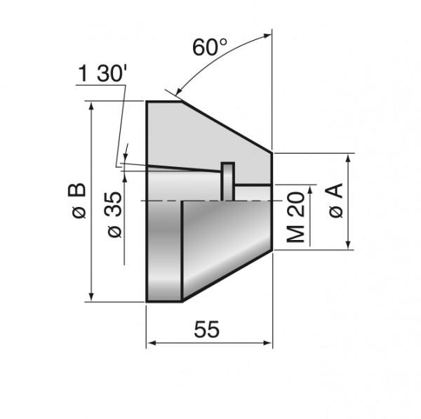 Zentrierkegelkopf, Typ ZKK-198