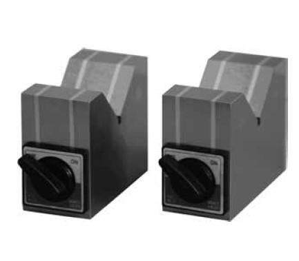 Magnetic V-blocks, switchable