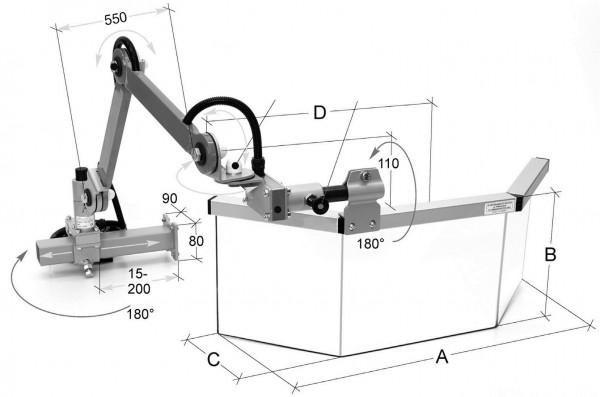 Schutzeinrichtung für Fräsmaschinen 620 x 250 mm